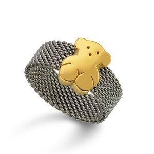 🐻 Tous 🐻 Bear Mesh Ring - Silver